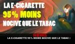 NIEUWS: De e-sigaret 95% minder schadelijk dan tabak!