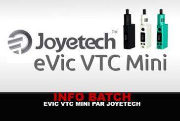 INFORMAZIONI SULLE LOTTE: EVIC VTC Mini (Joyetech)