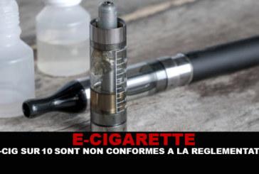E- CIG: על פי DGCCRF, 9 דואר סיגריות על 10 אינם תואמים את התקנות!
