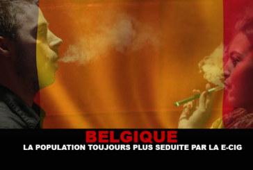 BELGIQUE : La population toujours plus séduite par la e-cigarette !