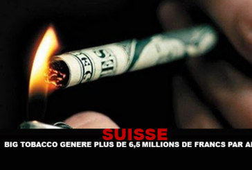 SWITZERLAND: The tobacco industry generates 6,5 billion francs a year!