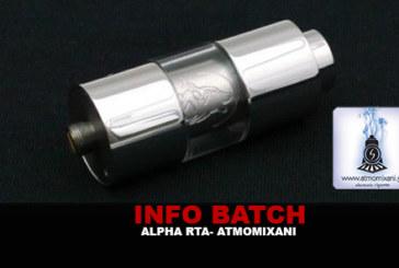 INFO BATCH : Alpha RTA (Atmomixani)