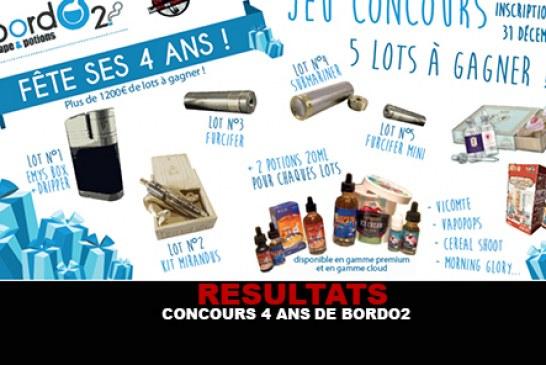 RESULTATS : Concours 4 ans de Bordo2 (1200 euros de lots)