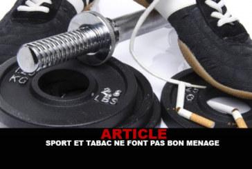 ARTICLE : Sport et tabac ne font pas bon ménage !