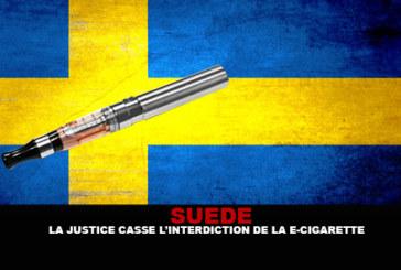 SUEDE : La justice casse l'interdiction de la cigarette électronique.