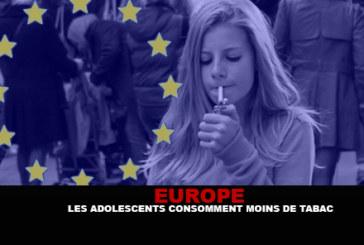EUROPE : Les adolescents consomment moins de tabac.