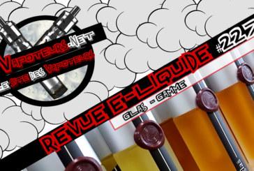 Revue E-Liquide #227 – GLAS – GAMME (USA)