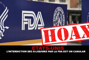 USA: E-liquids ban by the FDA is a hoax.