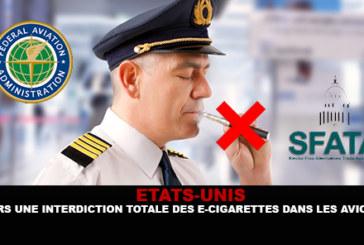 ETATS-UNIS : Vers une interdiction totale des e-cigarettes dans les avions