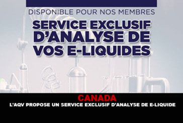 CANADA: AQV offers an exclusive e-liquid analysis service.