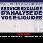 CANADA : L'AQV propose un service exclusif d'analyse de e-liquide.