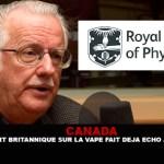 CANADA : Le rapport britannique sur la vape fait déja écho au Québec.