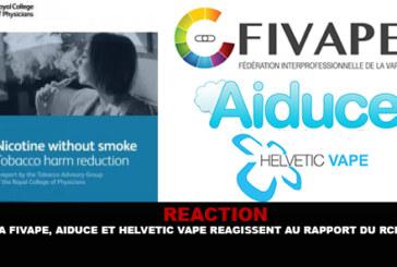 REACTION : La Fivape, Aiduce et Helvetic Vape réagissent au rapport du RCP.