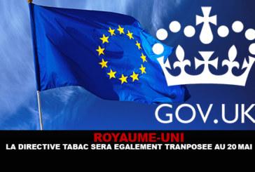 REGNO UNITO: La direttiva sul tabacco sarà inoltre trasposta in 20 maggio.