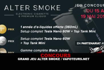 תחרות: משחק נהדר Alter עשן / Vapoteurs.net