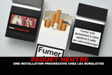 NEUTRAL PACKAGE: A progressive installation at tobacconists.