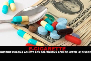 E-SIGARET: De farmaceutische industrie koopt politici in diskrediet.