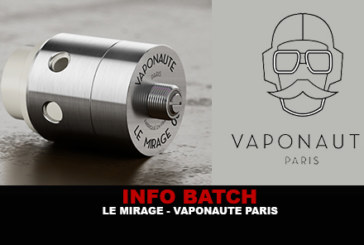 INFO BATCH : Le Mirage (Vaponaute)