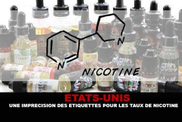 ETATS-UNIS : Une imprécision des étiquettes pour les taux de nicotine.