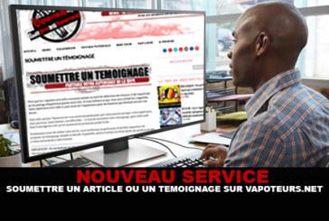NUEVO: Enviar un artículo o un testimonio en Vapoteurs.net