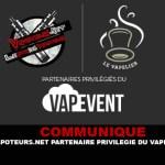 COMUNICATO STAMPA: Vapoteurs.net / The Vapelier partner privilegiati del Vapevent