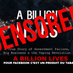 A BILLION LIVES: For Facebook it's a tobacco product ...