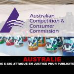 AUSTRALIA: un venditore di sigarette elettroniche denunciato per pubblicità ingannevole.
