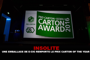 INSOLITE: E-cigarette package wins Carton of the Year award