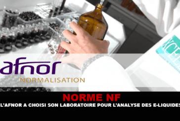 NF סטנדרטי: AFNOR בחרה במעבדה שלה לניתוח של נוזלים אלקטרוניים.