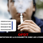 OFDT : L'expérimentation de la e-cigarette chez les lycéens stagne.