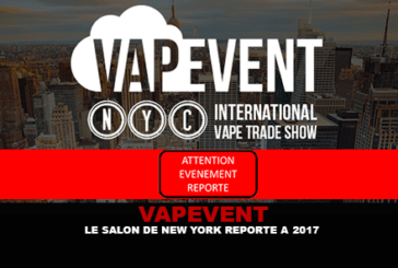 VAPEVENT: The New York Salon postponed to 2017.