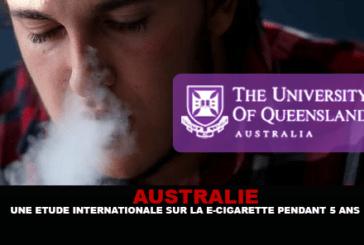 AUSTRALIE : Une étude internationale sur la e-cigarette pendant 5 ans.