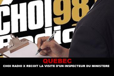 QUÉBEC: Радио Choi X посещает инспектор министерства.