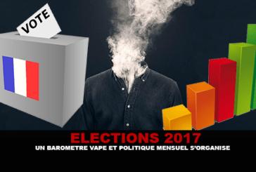 ELEZIONI DI 2017: viene organizzato un barometro di vape e una politica mensile.