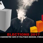 2017 בחירות: ברומטר Vape מדיניות חודשית מאורגן.