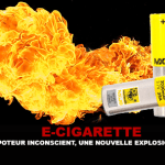 E-CIGARETTE: An unconscious vaper, a new battery explosion.