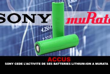 ACCUS: סוני מוכרת את פעילות סוללות הליתיום-יון שלה למוראטה.