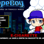 E-CIGARETTE: With Vapeboy, the vape finally has its video game mascot.
