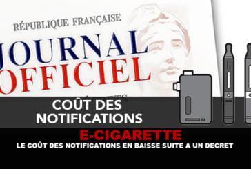 E-CIGARETTE : Le coût des notifications en baisse suite à un décret