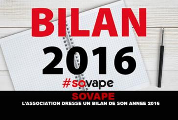 SOVAPE : L'association dresse un bilan de son année 2016