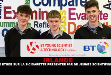 ΙΡΛΑΝΔΙΑ: Μια μελέτη σχετικά με τα ηλεκτρονικά τσιγάρα που παρουσιάζονται από νέους επιστήμονες.