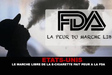ÉTATS-UNIS : Le marché libre de la e-cigarette fait peur à la FDA