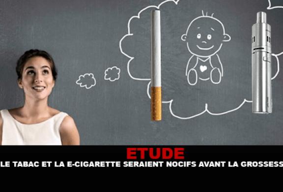 ÉTUDE : Le tabac et la e-cigarette seraient nocifs pour le bébé avant la grossesse.