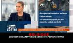 """BELGIË: Een elektronische sigaret in het tv-programma """"Pour ou Contre"""" van RTL TVI"""