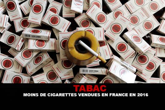 TABAC : Moins de cigarettes vendues en France en 2016.