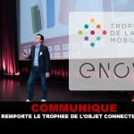 COMMUNIQUE : Enovap remporte le trophée de l'objet connecté de santé.