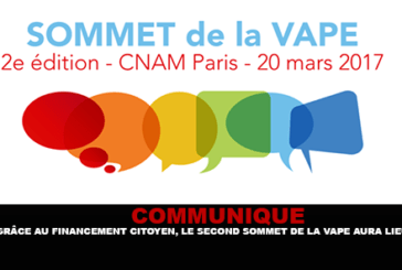 COMMUNIQUE: Thanks to citizen financing, the second Vape Summit will take place.