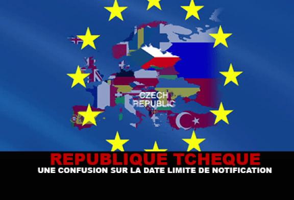 RÉPUBLIQUE TCHÈQUE : Une confusion sur la date limite de notification concernant la cigarette électronique.