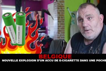 BELGIQUE : Nouvelle explosion d'un accu de e-cigarette dans une poche.