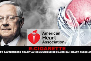 E-CIGARETTE: Professor Bertrand Dautzenberg reacts to the statement from the American Heart Association.